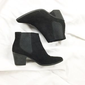 H&M Black Suede Chelsea Ankle Boots